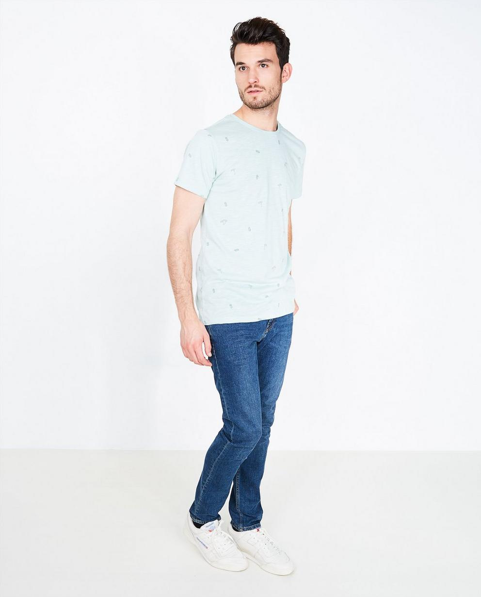 T-shirt met bananenprint - in donkergrijs - Quarterback